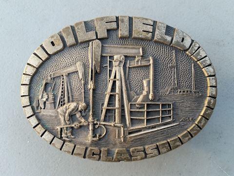 """""""Oilfield"""" western Texas style belt buckle vintage"""