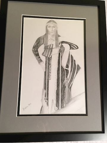 Lot of 3 Framed  Pencil Drawings