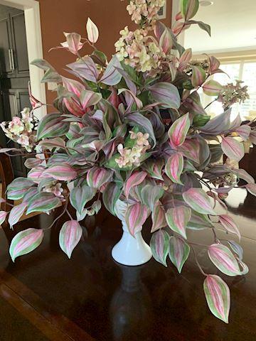 Faux Floral w/ Vase