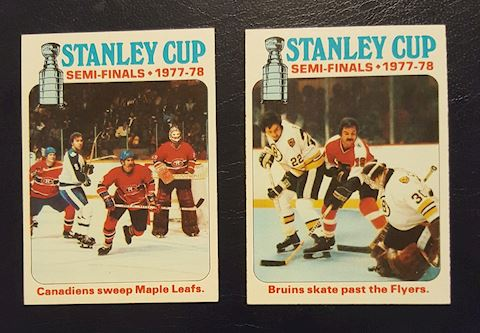 2 1977-78 Stanley Cup Semi Finals Hockey Cards