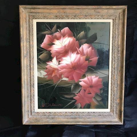Framed D'Alessandro Oil Painting