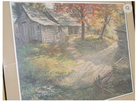 VINTAGE ART Signed Billie Nipper Country Mornin'