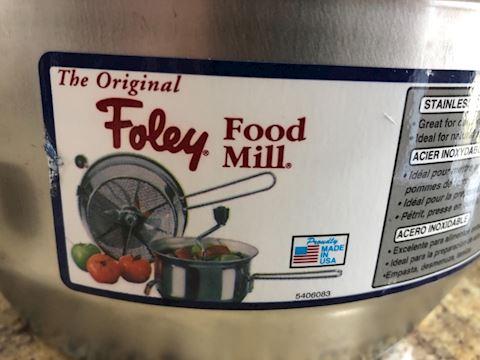 """Foley brand Food Mill 9"""" 3.5 Qt"""