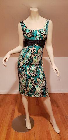 Kay Unger silk brocade wiggle dress