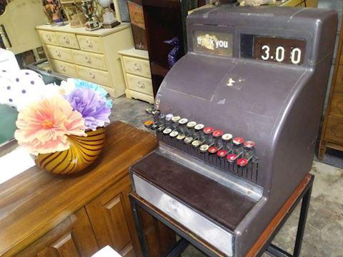 Metal Vintage National Cash Register
