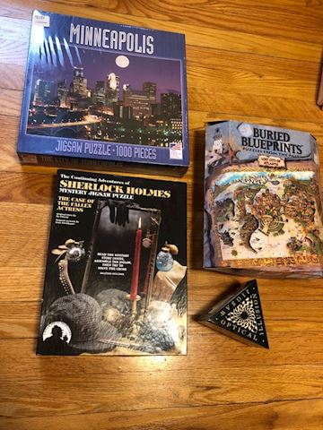 Puzzle and game lot (Sherlock Holmes, MPLS, More)