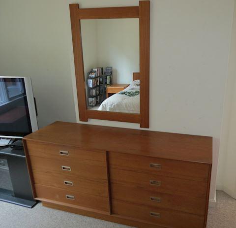 Mid Century Made Denmark 8-Drawer Dresser Mirror