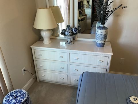 White Wicker Dresser
