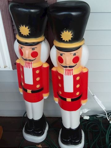 Plastic Christmas Outdoor Light-Up Toy Soldiers