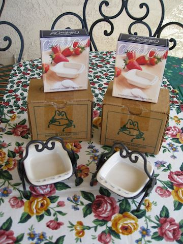 2002 Miniature Baking Dishes & Wrought Iron Server