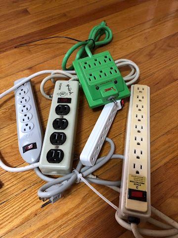 Lot of 5 power strips