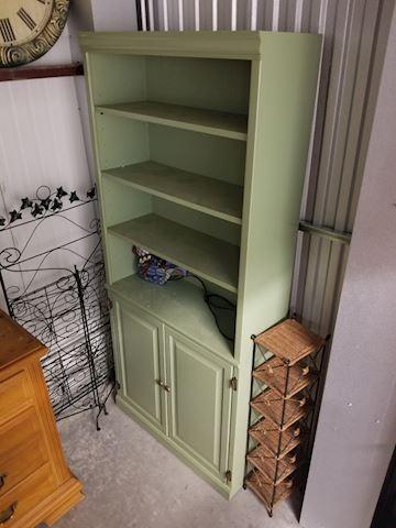 Seafoam Green Wood Bookcase #2