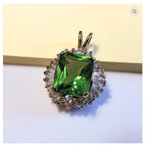 Gemstone Pendant Sterling Silver