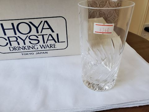 Hoya crystal drinking glasses set of 5