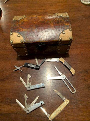 Chest filled with Pocket Knives