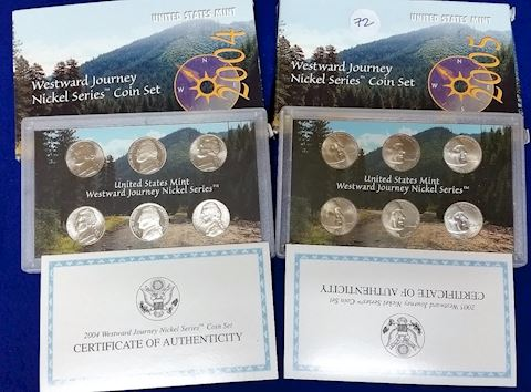 2004/2005 Westward Journey Nickle Series coin set