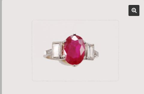Burmese Ruby 14K GOLD Estate Ring
