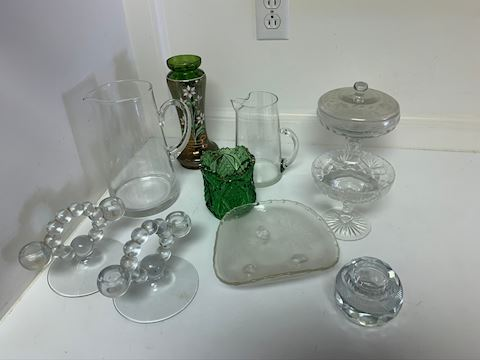 Assorted Glass Decor and Vases