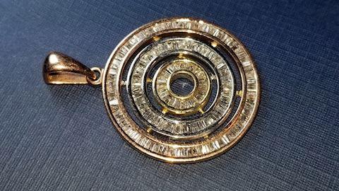 14k Diamond showstopper pendant