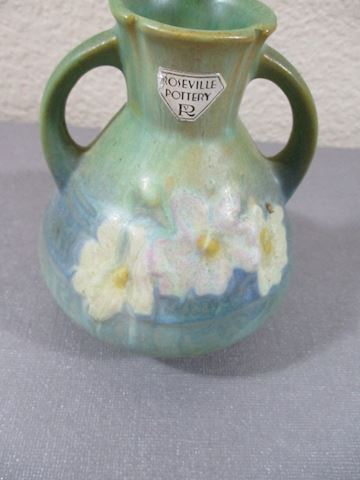 Roseville Pottery Signed Original 1940 Cosmos Grn