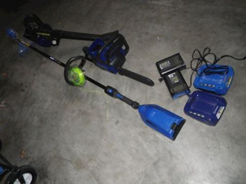 Kobalt Weed Wacker, Blower, and Chainsaw