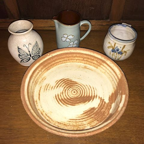 Lot of 4 Handmade Pottery