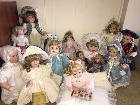14 mixed assortment porcelain dolls