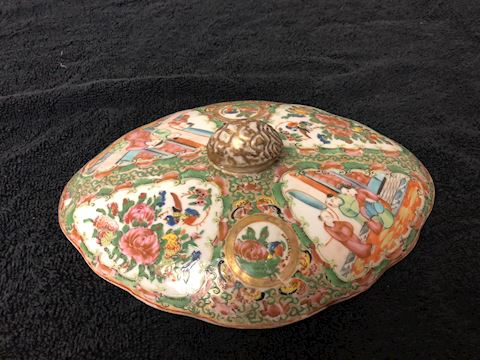 Antique Asian lid