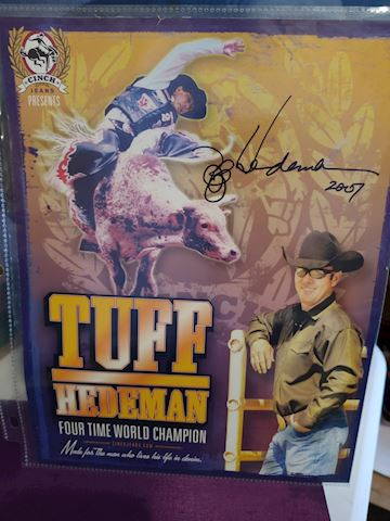 Tuff Hedeman Autograph World Champ Bull Rider