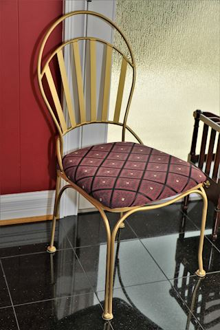 Bassett Solid Wrought Iron Gold Chair