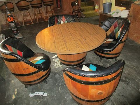 WHISKEY BARREL   CHAIRS BY BROTHER  MID CENTURY