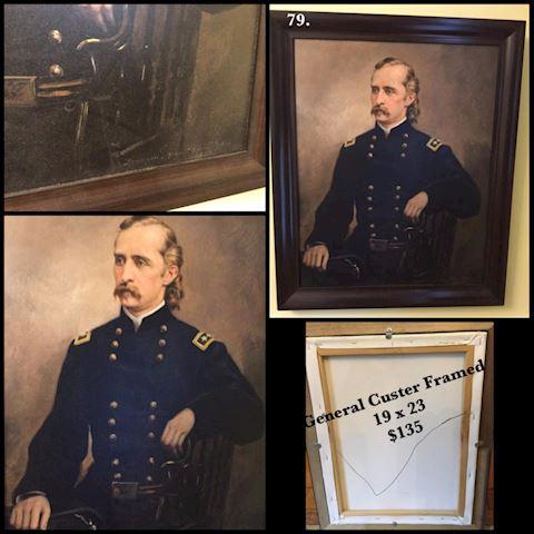 General Custer Framed 19x23