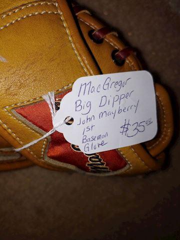 Autographed John Mayberry Baseball Glove