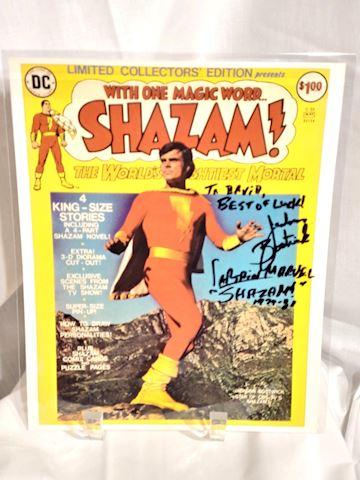 Original Shazam, Jackson Bostwick, Signed Print