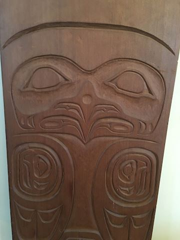 Vtg Northern Pacific Wood Carving Artist Signed