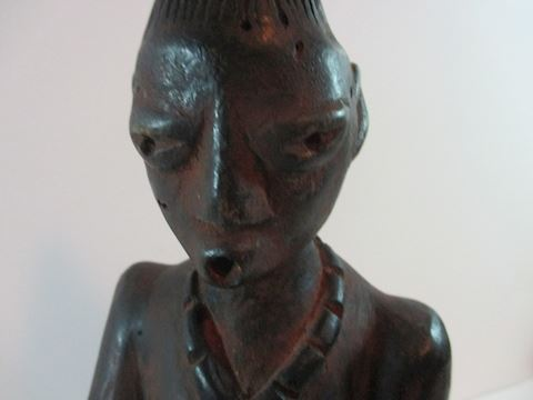 Antique Yoruba Female African Wood Statue