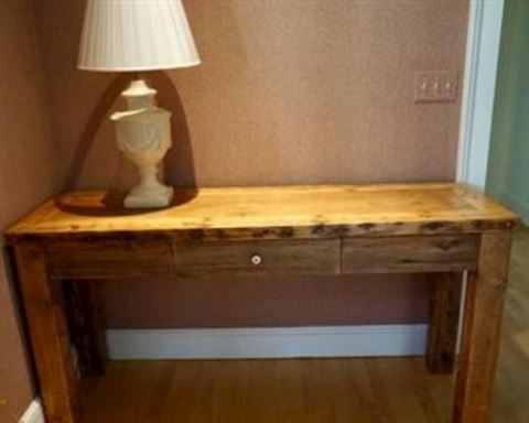 Custom Pine Sofa Table
