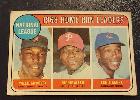 1968 Home Run Leaders Baseball Card #6