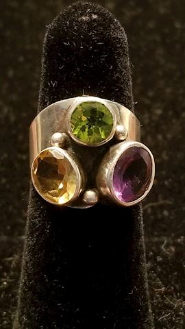 Sterling Ring with stones