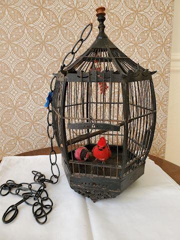 Black Japanese wood birdcage