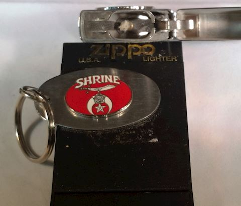 Zippo Lighter- Shriner With Matching Key- Chain