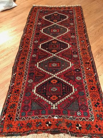 """Lot 0123 Old Oriental wool Rug 125""""x54"""""""