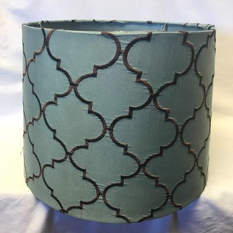 Teal brown lampshade