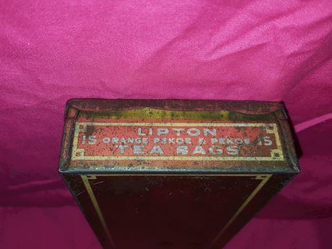 Vintage Lipton Teabag metal tin