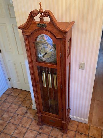 Hand Crafted Hentschel Oak Grandfather Clock