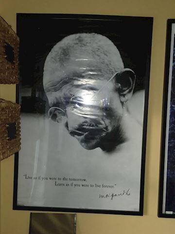 Mahatma Ghandi Framed Poster