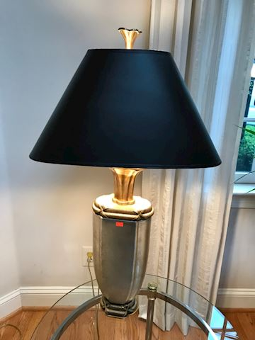 High end iron And steel table lamp