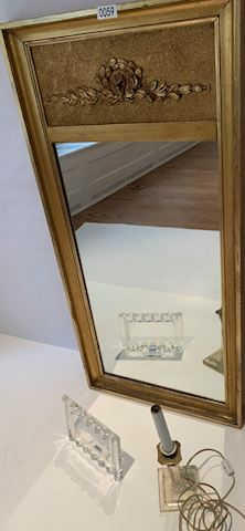 Lot 0059 Gold Gilt Mirror and crystal