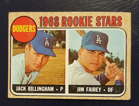 1968 LA Dodgers Rookie Stars Baseball Card #228