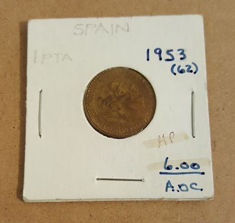 Old 1953 Spain Coin